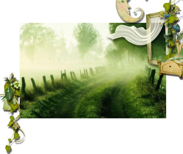 清新大自然的绿色