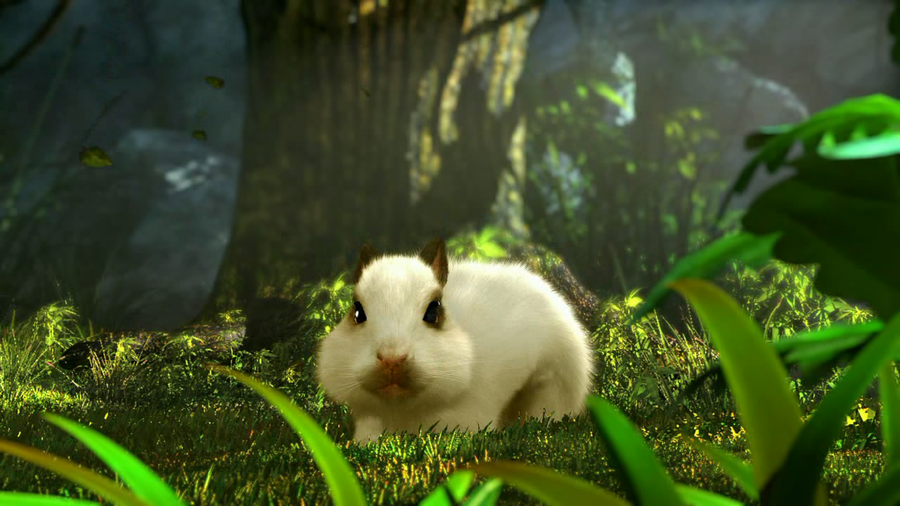 CG中可爱的宠物兔 多宠操作,千骑百乖   恩,小编没有打错。《乾坤在线》最大的特色,虽然之前大家已经有所了解,但是对于多宠真正的概念还比较模糊。在《乾坤在线》中,多宠的特点在于玩家可以即时操作庞大如军团编制的宠物队伍,对战斗,保护,行走等加以操作。而宠物之间的职能也划分为骑宠、增益宠,以及战斗宠。合理的战斗搭配才能在乾坤世界中百战百胜。