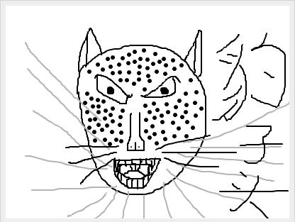 简笔画豹子的画法步骤