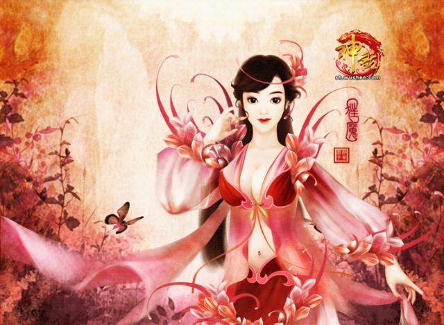 古代异域仙女手绘图